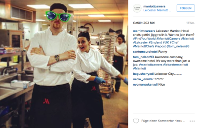 In den Küchen der Marriot Hotels kommt der Spass nicht zu kurz.